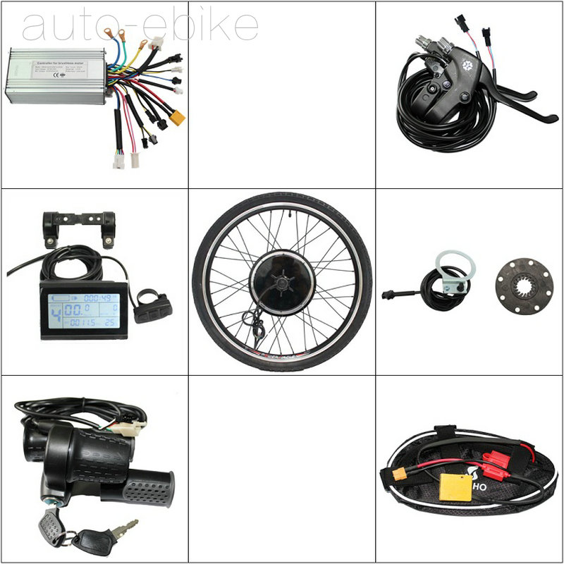 electric bike DIY conversion kits 36/48V 500W Wheel Electric Bicycle Ebike Conversion Kits New Style with LCD Display