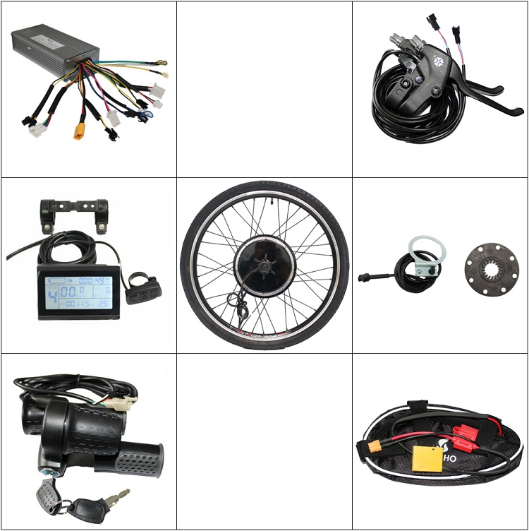 Wholesale 36V 750W/48V 1000W Rear Wheel Electric Bicycle Ebike Conversion Kits New Style with LCD Display