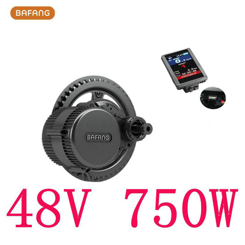 Bafang 8fun BBS02 Latest Controller Crank Motor, 48V 750W Eletric Bicycles Trike Conversion DIY Ebike Kits With C965 LCD Display